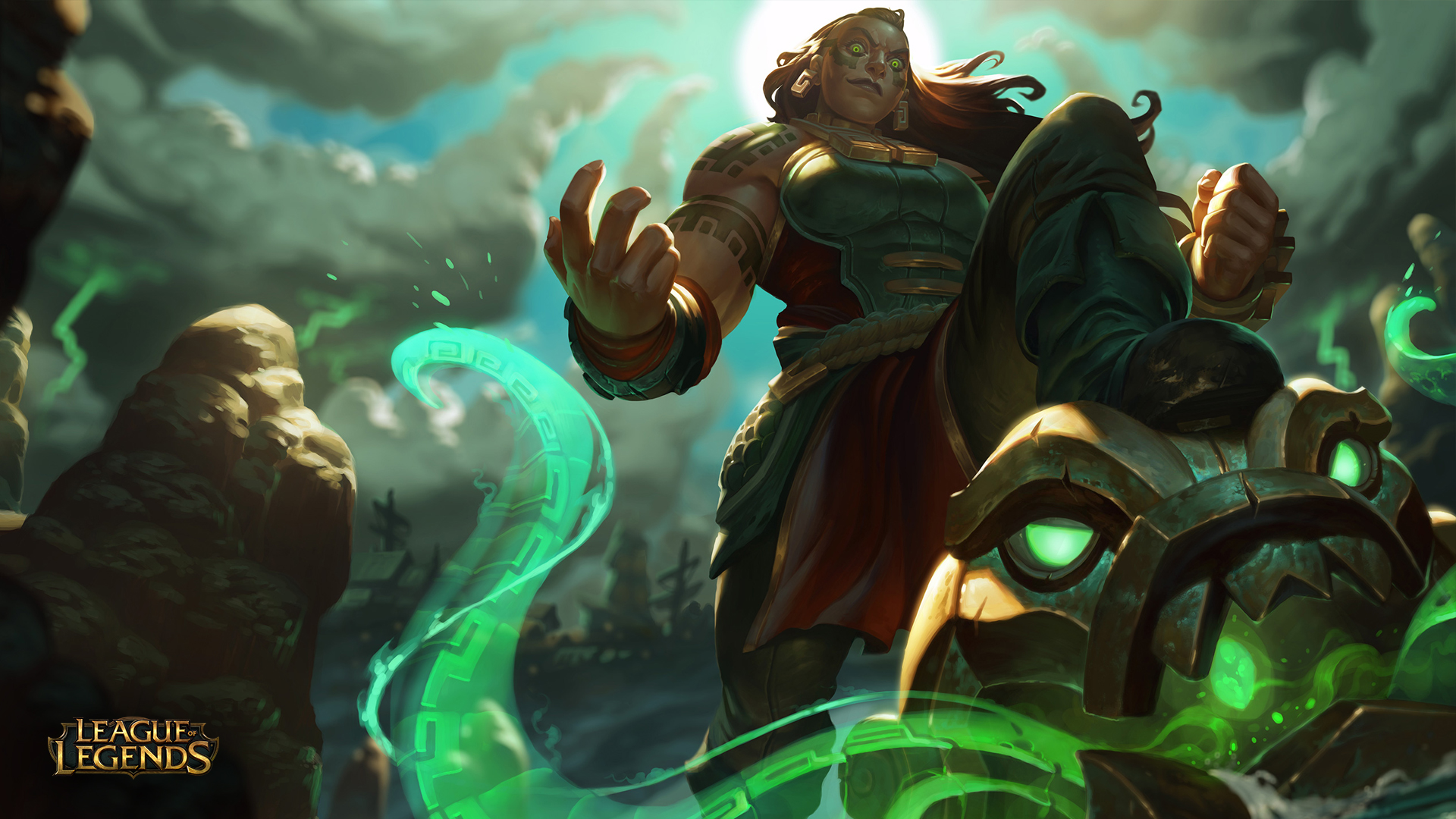 Illaoi League Of Legends Wallpapers HD 1920x1080
